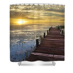 Lake Of Enchantment Shower Curtain by Debra and Dave Vanderlaan