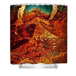 Lake Of Lava Shower Curtain