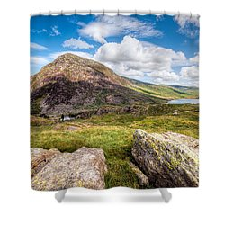 Lake Ogwen Shower Curtain by Adrian Evans