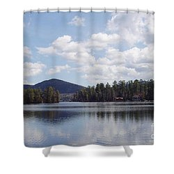 Shower Curtain featuring the photograph Lake Placid by John Telfer
