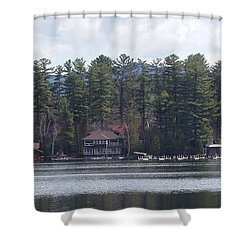 Shower Curtain featuring the photograph Lake Placid Summer House by John Telfer