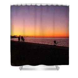 Lake Pontchartrain Sunset Shower Curtain by Deborah Lacoste