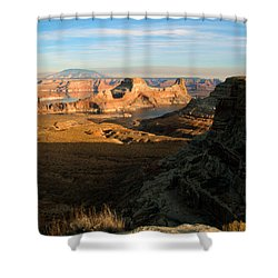 Lake Powell From Alstrum Pt 02 Shower Curtain by Jeff Brunton