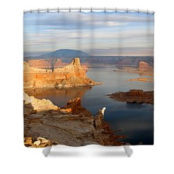 Lake Powell From Alstrum Pt 12 Shower Curtain by Jeff Brunton