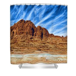 Lake Powell Rocks Shower Curtain by Ayse and Deniz