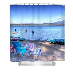 Lake Quinault Dream Shower Curtain by Heidi Smith