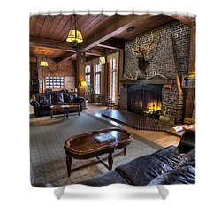 Lake Quinault Lodge Olympic National Park Shower Curtain by Steve Gadomski