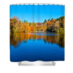 Shower Curtain featuring the photograph Lake Reflections by Alex Grichenko