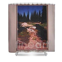 Lake Rivette Runoff Shower Curtain by Sharon Elliott