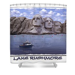 Lake Rushmore Shower Curtain by Mike McGlothlen