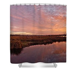 Lake Shelby Bridge Shower Curtain by Michael Thomas