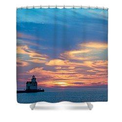 Lake Spirits Rising Shower Curtain
