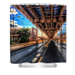 Lake Street El Tracks Shower Curtain