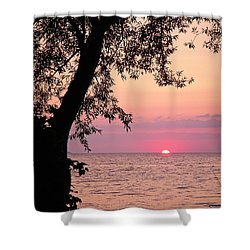 Lake Sunset Shower Curtain by Aimee L Maher Photography and Art Visit ALMGallerydotcom