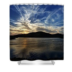 Lake Sunset In The Wichita Mountains Shower Curtain