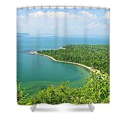 Lake Superior Panorama Shower Curtain by Elena Elisseeva