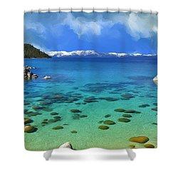 Lake Tahoe Cove Shower Curtain