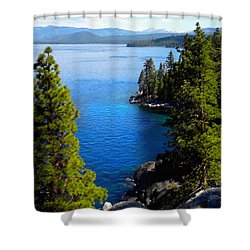 Lake Tahoe From The Rubicon Trail Shower Curtain