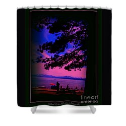 Shower Curtain featuring the photograph Lake Tahoe Silhouette by Bobbee Rickard