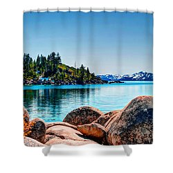 Lake Tahoe Winter Calm Shower Curtain