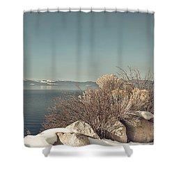 Lake Tahoe Winter Shower Curtain by Kim Hojnacki