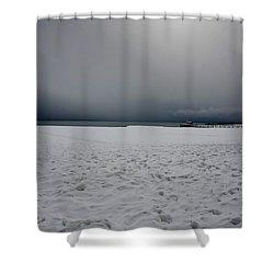 Lake Tahoe Winter Shower Curtain
