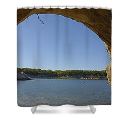 Lake Texoma Eisenhower State Park  Texas Shower Curtain by Charles Beeler