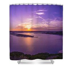 Lake Travis Sunset Shower Curtain by David Morefield