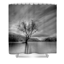 Lake Tree Mon Shower Curtain