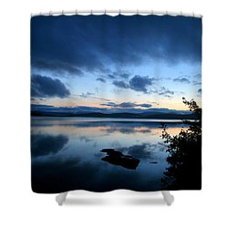 Lake Umbagog Sunset Blues No. 2 Shower Curtain