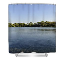 Shower Curtain featuring the photograph Lake Victory by Verana Stark