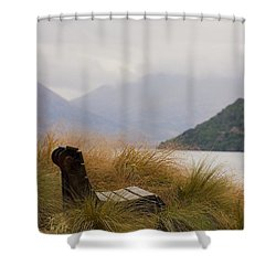 Lake Wakatipu Bench Shower Curtain by Stuart Litoff