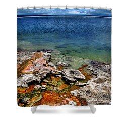 Lake Yellowstone Shower Curtain by Ellen Heaverlo