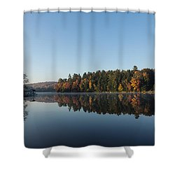 Lakeside Cottage Living - Peaceful Morning Mirror Shower Curtain