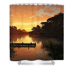 Lakeside Shower Curtain by Cynthia Decker
