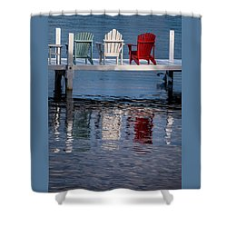 Lakeside Living Number 2 Shower Curtain by Steve Gadomski