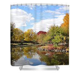 Lakeside Park Shower Curtain by Tiffany Erdman