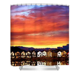 Lakeside Reflections Shower Curtain by Nick Gustafson