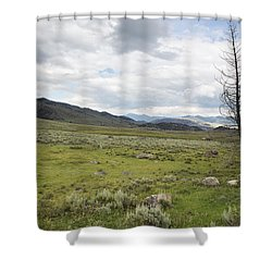 Lamar Valley No. 1 Shower Curtain by Belinda Greb