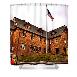 Lambda Chi Alpha Fraternity On The Wsu Campus Shower Curtain by David Patterson