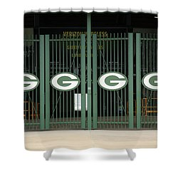Lambeau Field - Green Bay Packers Shower Curtain by Frank Romeo