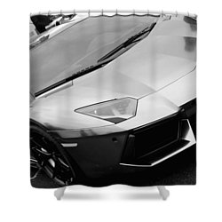 Black And White Shine Shower Curtain