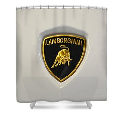 Lamborghini Badge Shower Curtain