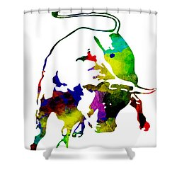 Lamborghini Bull Emblem Colorful Abstract. Shower Curtain
