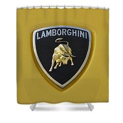 Lamborghini Emblem 2 Shower Curtain by Jill Reger