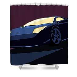Lamborghini Murcielago - Pop Art Shower Curtain by Pixel  Chimp