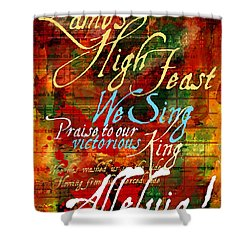 High Feast Of The Lamb Shower Curtain by Chuck Mountain