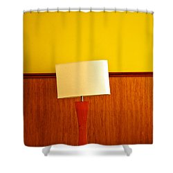 Lamp And Desk Shower Curtain by Jess Kraft