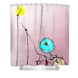 Lamplight Shower Curtain