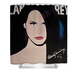 Lana Del Rey Blue Eyes Shower Curtain